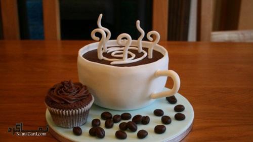 کاپ کیک قهوه + تزیین