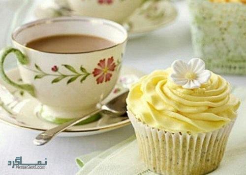 کاپ کیک عسلی خوش طعم + تزیین