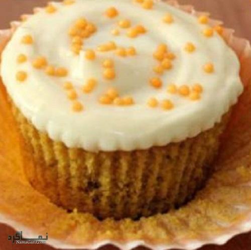 مراحل طرز تهیه کرم پنیری کاپ کیک عسلی