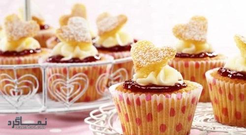 دستور پخت کاپ کیک عسلی شیک