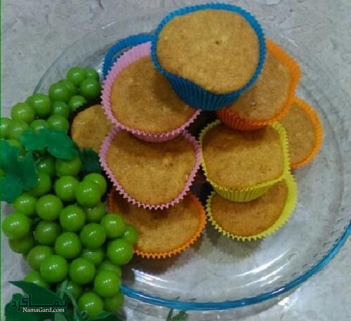 کاپ کیک عسلی + تزیین