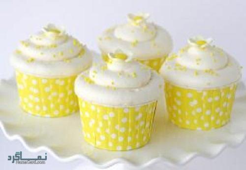 کاپ کیک لیمویی خوش طعم + تزیین