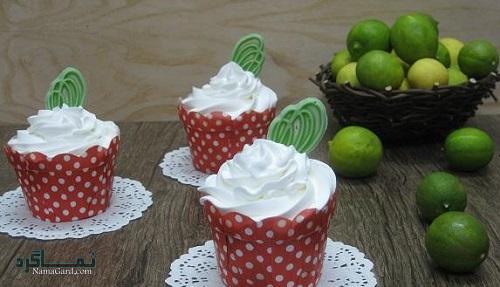 روش پخت کرم مارسکارپونه کاپ کیک لیمویی
