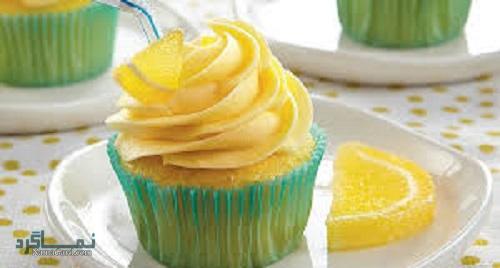 کاپ کیک لیمویی | طرز تهیه کاپ کیک لیمویی خوشمزه + فیلم آموزشی