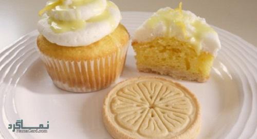 مراحل روش پخت کاپ کیک لیمویی خوش طعم