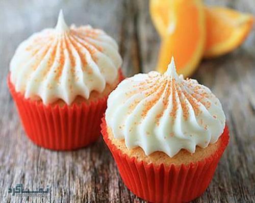 روش پخت کاپ کیک پرتقالی