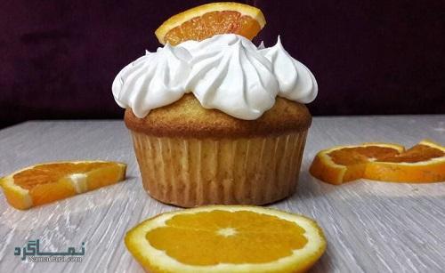 کاپ کیک پرتقالی خوش عطر + فیلم آموزشی