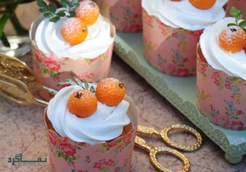 کاپ کیک پرتقالی خوش عطر