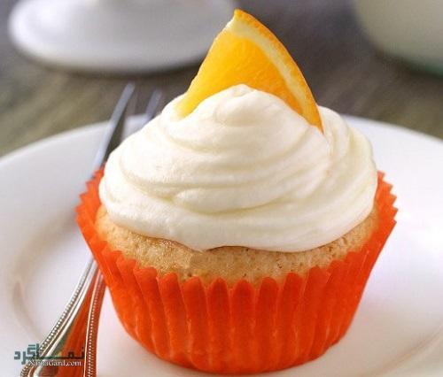 طرز تهیه کاپ کیک پرتقالی ساده