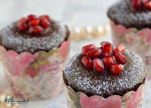 فیلم آموزشی نحوه پخت کاپ کیک انار شیک