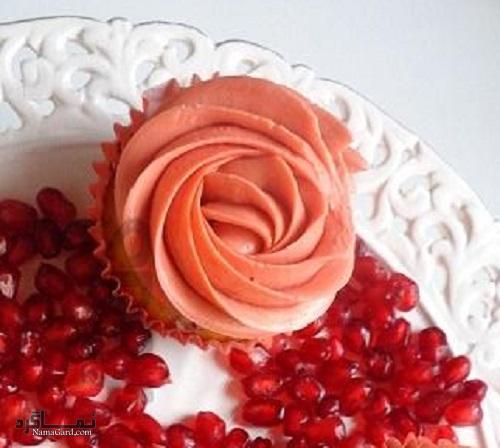 کاپ کیک انار شیک