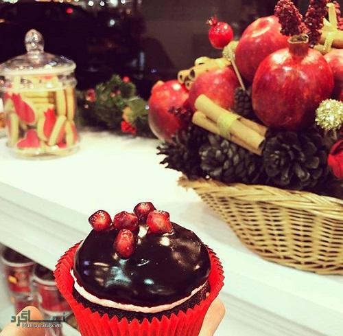 کاپ کیک انار خوشمزه + فیلم آموزشی