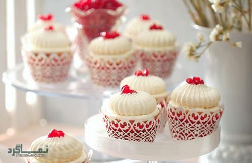 کاپ کیک انار خوشمزه