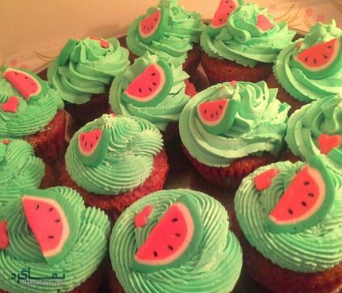 کاپ کیک هندوانه شیک