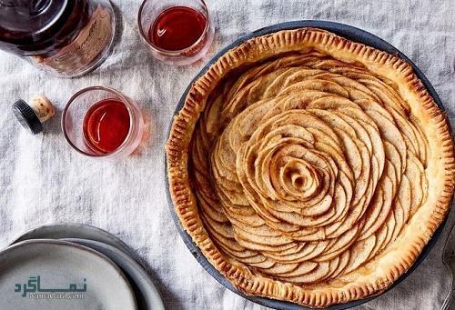 طرز تهیه شیرینی پای سیب ساده