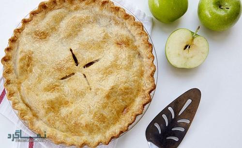 مراحل روش پخت مواد میانی شیرینی پای سیب