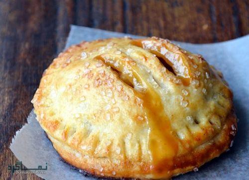 فیلم آموزشی دستور پخت شیرینی پای سیب شیک
