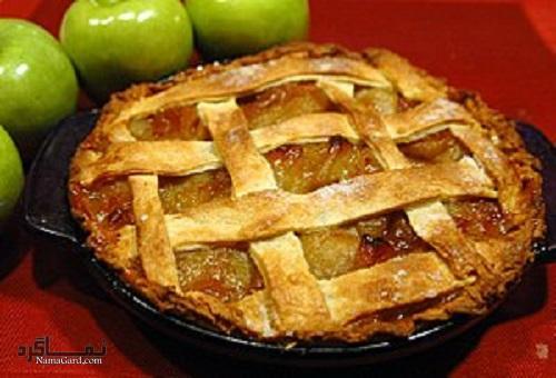شیرینی پای سیب خوشمزه + تزیین