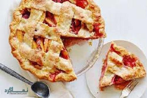 فیلم آموزشی دستور پخت شیرینی پای هلو شیک