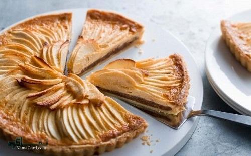 مراحل نحوه پخت تارت سیب خوشمزه