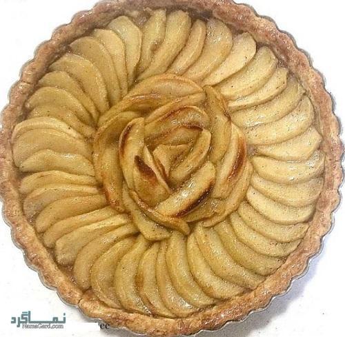 نحوه پخت تارت سیب خوشمزه + تزیین