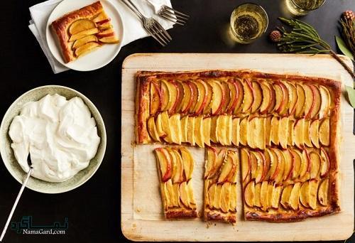 نحوه پخت تارت سیب خوشمزه