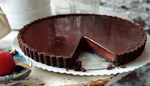 تارت شکلاتی خوش طعم + تزیین