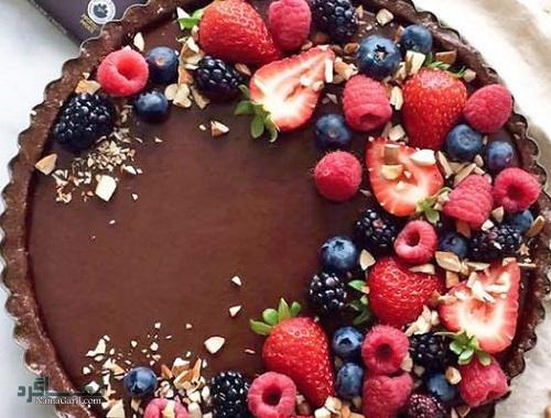 تارت شکلاتی   طرز تهیه تارت شکلاتی خوشمزه + فیلم آموزشی