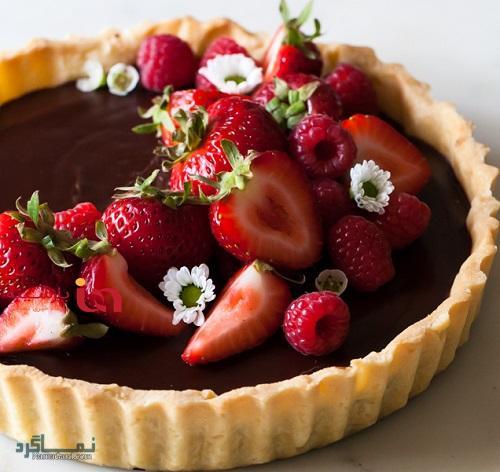 طرز تهیه تارت شکلاتی خوشمزه + تزیین