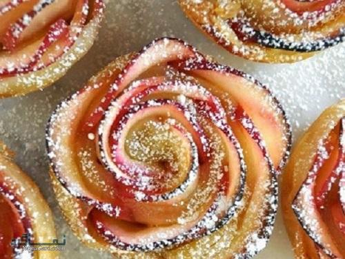تارت گل رز خوشمزه