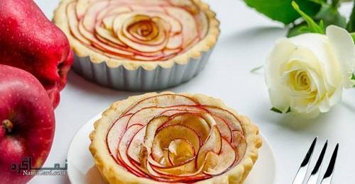 طرز تهیه تارت گل رز خوشمزه + تزیین