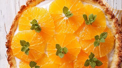 مراحل نحوه پخت تارت پرتقالی خوش عطر