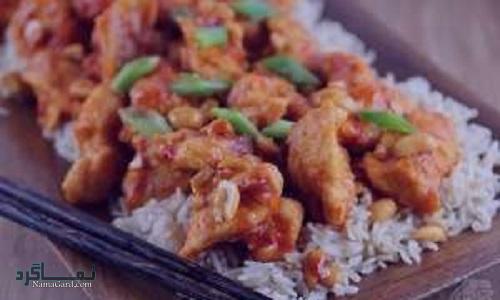 مراحل طرز پخت خورشت چینی با مرغ