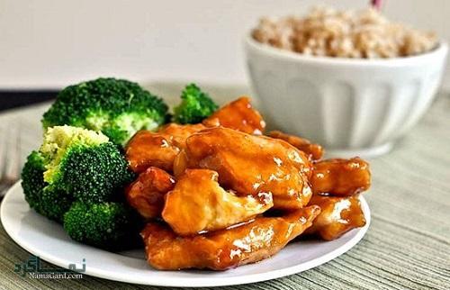 خورشت چینی با مرغ + تزیین