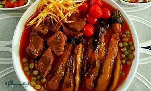 مراحل نحوه پخت خورشت غوره با گوشت