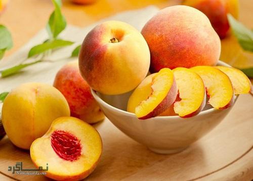 میوه هلو + تزیین
