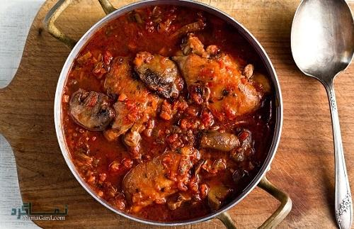 طرز پخت خورشت کدو با مرغ