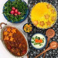 خورشت آلو و قیسی | طرز تهیه خورشت آلو و قیسی (شیرین قاتوق) گیلانی + فیلم