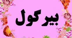 معنی اسم بیرگول – نام بیرگول – زیباترین اسم های دخترانه ترکی
