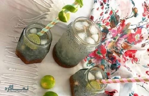 نوشیدنی تخم شربتی + تزیین