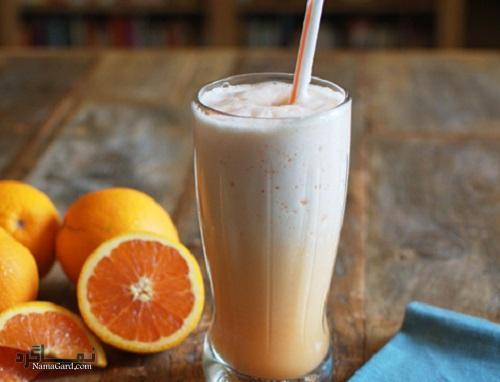 آموزش طرز تهیه میلک شیک پرتقالی خوشمزه