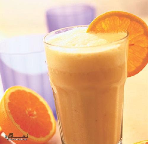 مراحل روش تهیه میلک شیک پرتقالی