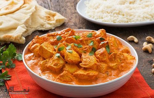 آموزش روش تهیه خورشت مرغ هندی با ماست + ویدئو آموزشی
