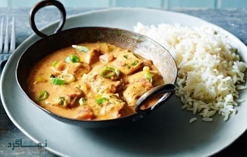 خورشت مرغ هندی با ماست