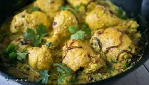 طرز پخت خورشت مرغ هندی با ماست