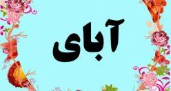 معنی اسم آبای – معنی آبای – اسم اصیل پسرانه ترکی