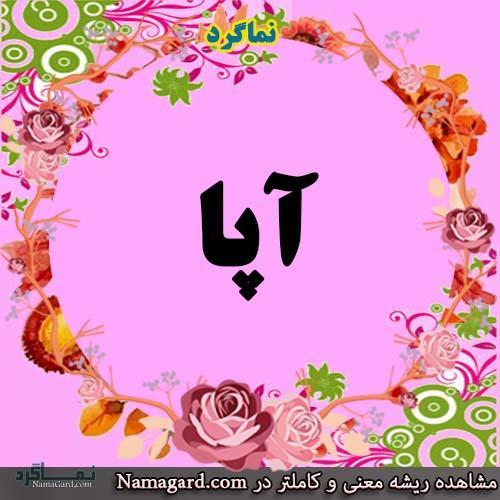 معنی اسم آپا - نام آپا - زیباترین نام های دخترانه ترکی