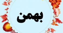 معنی اسم بهمن – نام بهمن – اسمهای پسرانه کردی