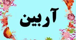 معنی اسم آربین – معنی آربین – نام پسرانه ترکی