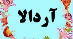 معنی اسم آردالا – معنی آردالا – نام پسرانه ترکی